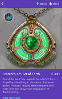 Creator's Amulet of Earth