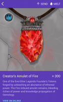 Creator's Amulet of Fire