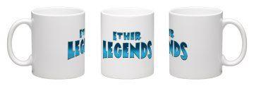 Ether Legends Coffee Mug -Face wrap around White