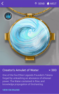 Creator's Amulet of Water